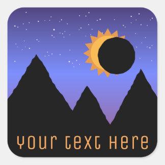 Pegatina Cuadrada Pegatinas de encargo del eclipse solar 2017