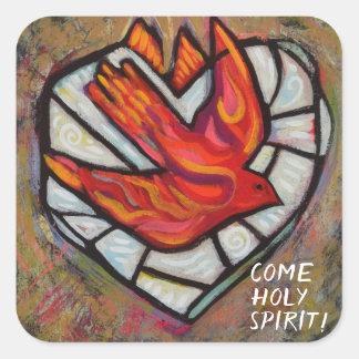 Pegatina Cuadrada Pegatinas de la confirmación del Espíritu Santo