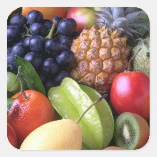 Pegatina Cuadrada Pegatinas de las frutas y de los Veggies