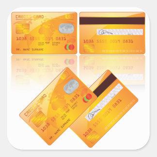 Pegatina Cuadrada Pegatinas de las tarjetas de crédito
