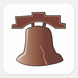 Pegatina Cuadrada Pegatinas de Liberty Bell