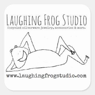 Pegatina Cuadrada Pegatinas de risa del logotipo del estudio de la
