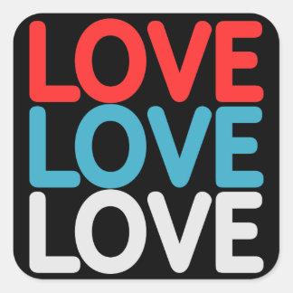 Pegatina Cuadrada Pegatinas del amor