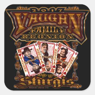 Pegatina Cuadrada Pegatinas del cuadrado de la reunión de Vaughn de