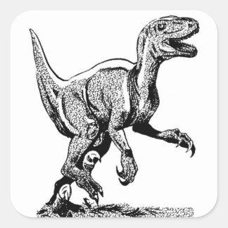 Pegatina Cuadrada Pegatinas del dinosaurio de T Rex