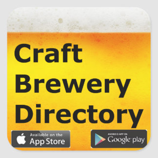 Pegatina Cuadrada Pegatinas del directorio de la cervecería del arte