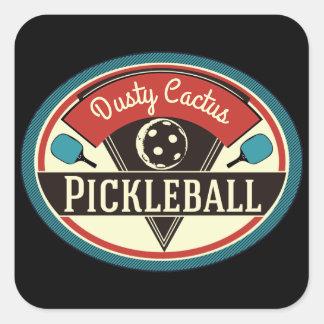 Pegatina Cuadrada Pegatinas del equipo de Pickleball - diseño del