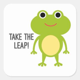 Pegatina Cuadrada Pegatinas del Froggy
