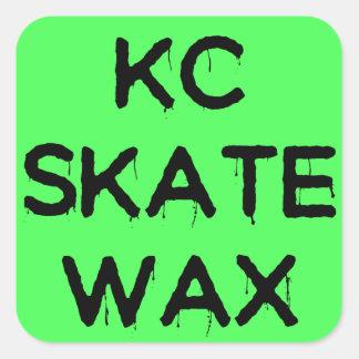 Pegatina Cuadrada pegatinas del logotipo de la cera del patín del kc