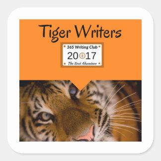 Pegatina Cuadrada ¡Pegatinas del tigre!