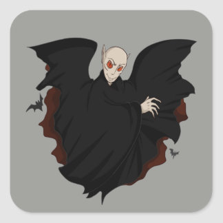 Pegatina Cuadrada Pegatinas del vampiro