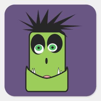 Pegatina Cuadrada Pegatinas divertidos de Frankenstein Halloween