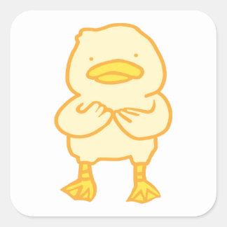 Pegatina Cuadrada Pegatinas Ducky con formas de sus opciones