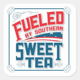 Pegatina Cuadrada Pegatinas dulces meridionales del cuadrado del té