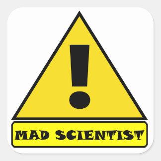 Pegatina Cuadrada Pegatinas enojados del científico