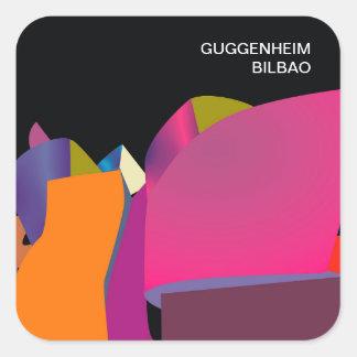Pegatina Cuadrada Pegatinas Guggenheim Bilbao