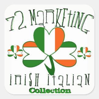 Pegatina Cuadrada pegatinas italianos irlandeses 72marketing