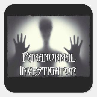 Pegatina Cuadrada Pegatinas paranormales del fantasma del