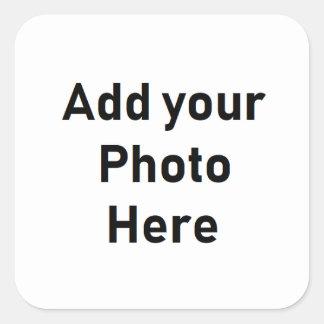 Pegatina Cuadrada Pegatinas personalizados de la foto