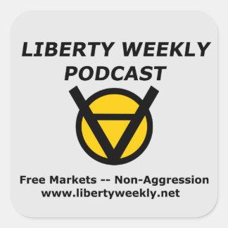 Pegatina Cuadrada Pegatinas semanales del arte del podcast de la