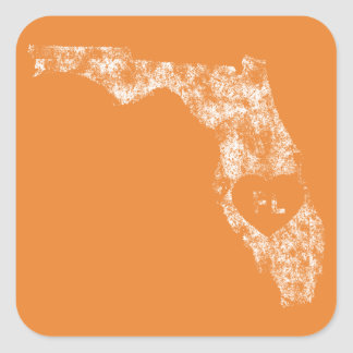 Pegatina Cuadrada Pegatinas usados del estado de la Florida del amor