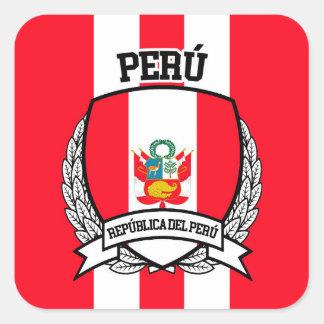 Pegatina Cuadrada Perú
