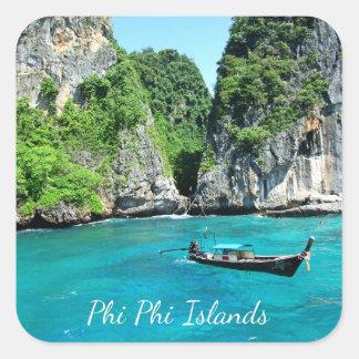 Pegatina Cuadrada PhiPhiislands_thailand