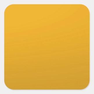Pegatina Cuadrada PLANTILLA en blanco del oro: Añada el texto,