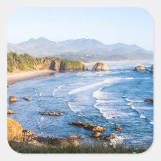 Pegatina Cuadrada Playa Oregon del cañón