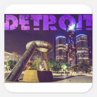 Pegatina Cuadrada Plaza del ciervo de Detroit
