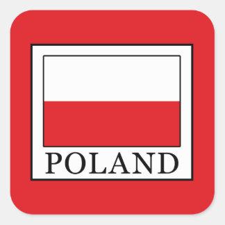 Pegatina Cuadrada Polonia