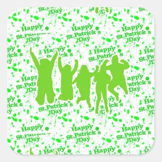 Pegatina Cuadrada Poster del fiesta del día del St Patricks