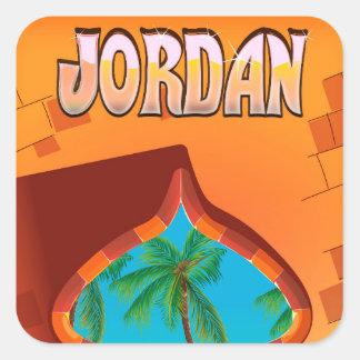 Pegatina Cuadrada Poster del viaje del palacio de Jordania