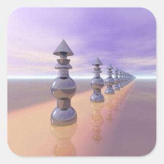 Pegatina Cuadrada Progresión geométrica cónica