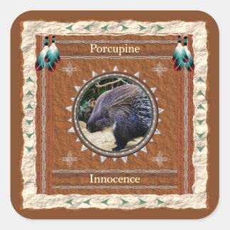 Pegatina Cuadrada Puerco espín - pegatinas de la inocencia - 20 por