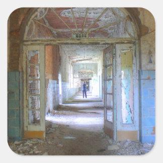 Pegatina Cuadrada Puertas y pasillos 03,0, lugares perdidos, Beelitz