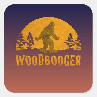 Pegatina Cuadrada Puesta del sol del vintage de Woodbooger