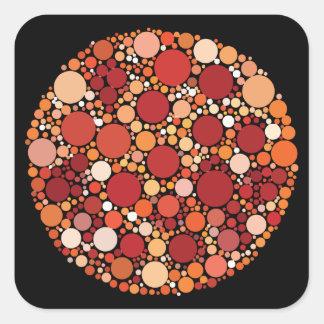 Pegatina Cuadrada puntos de la pizza