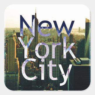 Pegatina Cuadrada Recuerdo de New York City