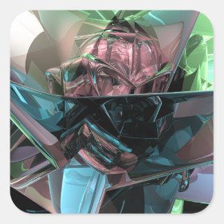 Pegatina Cuadrada Reflexiones coloridas 3D