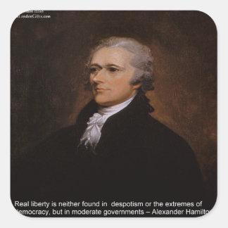 Pegatina Cuadrada Regalos de Alexander Hamilton