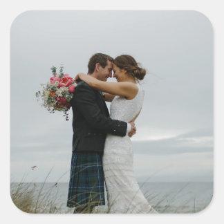 Pegatina Cuadrada Regalos de boda