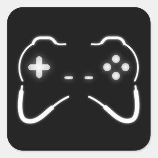 Pegatina Cuadrada Regulador del juego