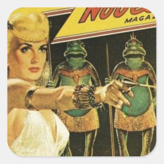 Pegatina Cuadrada Reina de los hombres de rana