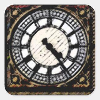 Pegatina Cuadrada Reloj-cara de Big Ben en acrílicos
