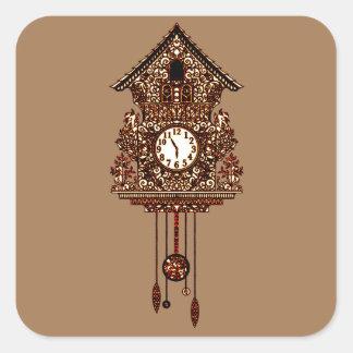 Pegatina Cuadrada Reloj de cuco 2