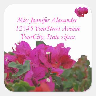 Pegatina Cuadrada Remite de las flores vivas