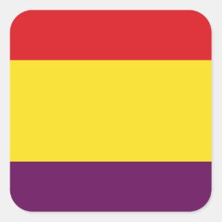 Pegatina Cuadrada República de la bandera de España - Bandera