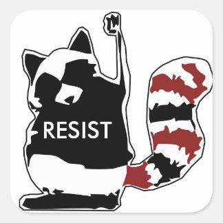 Pegatina Cuadrada Resista a los pegatinas de la bandera americana