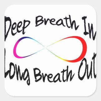 Pegatina Cuadrada respiración infinita